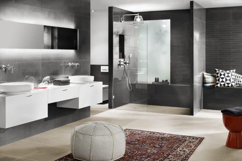Studio3001 Fotografie Foto Interieur Bad Badezimmer Dusche Glas Waschtisch Waschbecken Spiegel Led Licht